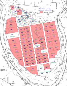 Схема расположения участков занятые